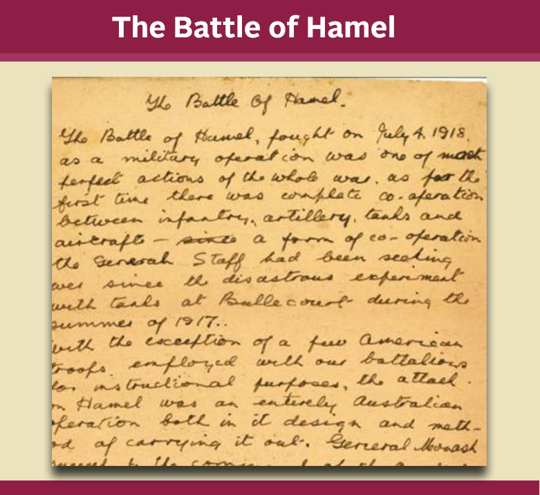 The Battle of Hamel